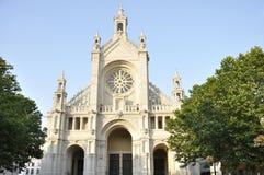 Helgon Catherine i Bryssel, Belgien Arkivbilder