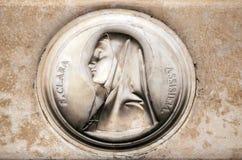 Helgon Clare av Assisi Royaltyfri Bild