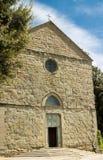 Helgon Domenico Church i Cortona royaltyfri bild