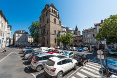 Helgon Etienne Catholic i Cahors, Frankrike arkivfoto