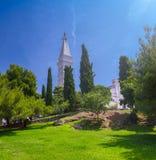 Helgon Euphemia Church i Rovinj Istria croatia arkivbild