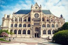 Helgon-Eustachekyrka i Paris Arkivbilder