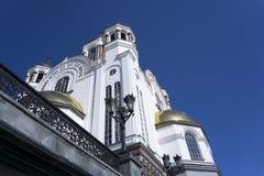 Helgon för kyrka allra, Yekaterinburg Royaltyfria Foton