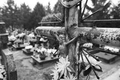 Helgon för oktav allra Konstnärlig blick i svartvitt Royaltyfri Foto