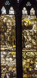 Helgon Francis Stained Glass Altar Santa Maria Frari Church Venice Italy Royaltyfria Bilder