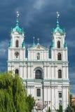 Helgon Francis Xavier Cathedral i Grodno royaltyfri fotografi