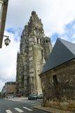 Helgon Gatien Cathedral av Tours Arkivbild