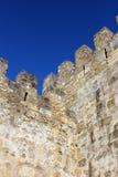 Helgon George Castle på Lissabon, Portugal Royaltyfria Bilder