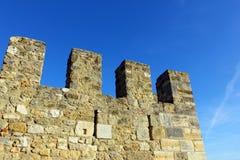 Helgon George Castle på Lissabon, Portugal Arkivfoto