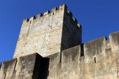 Helgon George Castle på Lissabon, Portugal Arkivbild