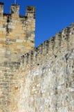 Helgon George Castle på Lissabon, Portugal Arkivbilder