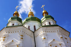 Helgon George Cathedral Vydubytsky Monastery Kiev Ukraina Royaltyfri Fotografi