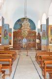 Helgon George Greek Orthodox Church Altar Fotografering för Bildbyråer