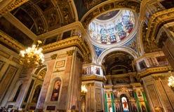 Helgon Isaac Cathedral, St Petersburg, Ryssland Fotografering för Bildbyråer