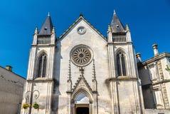 Helgon Jacques Church i Cognac, Frankrike arkivbilder