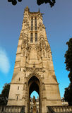 Helgon-Jacques det gotiska tornet, Paris, Frankrike Royaltyfria Foton