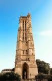 Helgon-Jacques det gotiska tornet, Paris, Frankrike Arkivfoto