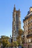 Helgon-Jacques torn, Paris Royaltyfria Bilder