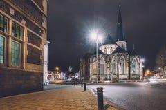 Helgon James Cathedral i Ghent Arkivfoto