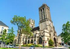 Helgon Jean Church i Caen, Frankrike arkivbild