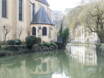 Helgon John Church, Luxembourg Arkivfoto
