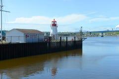 Helgon John Coast Guard Base Lighthouse, OBS, Kanada Royaltyfri Bild