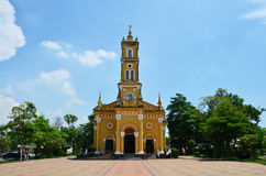 Helgon Joseph Catholic Church, Ayutthaya Thailand Arkivfoto