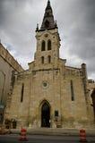 Helgon Joseph Catholic Church i i stadens centrum San Antonio Arkivbilder