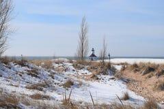 Helgon Joseph Michigan Harbor Lighthouse Royaltyfria Bilder
