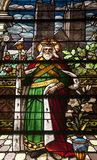 Helgon Joseph Stained Glass Window royaltyfri bild