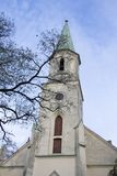 Helgon Katerina Evangelical Lutheran Church i Kuldiga Lettland Arkivbilder
