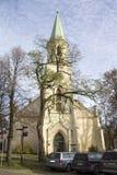 Helgon Katerina Evangelical Lutheran Church i Kuldiga Lettland Arkivbild