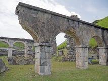 Helgon Kitts, svavelkullefästning Arkivfoto