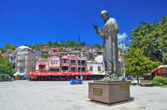 Helgon Kliment Ohridski, Ohrid, Makedonien Arkivbilder