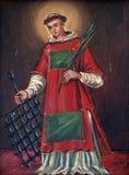 Helgon Lawrence av Rome Arkivfoton