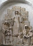 Helgon Lioba av Tauberbischofsheim, Walburga av Heidenheim och Thekla av Kitzingen royaltyfria bilder