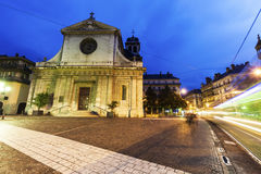 Helgon Louis Church i Grenoble Royaltyfri Fotografi