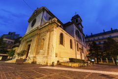 Helgon Louis Church i Grenoble Royaltyfri Foto