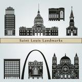 Helgon Louis Landmarks vektor illustrationer