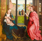 Helgon Luke Drawing oskulden av Rogier van der Weyden (15th C) Royaltyfri Bild
