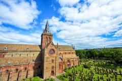 Helgon Magnus Cathedral, Kirkwall, Orkney Arkivfoto