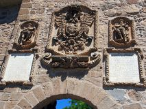 Helgon Martin Bridge, Toledo arkivbilder