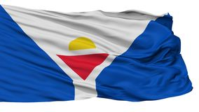 Helgon Martin Fictional Flag som isoleras på vit Stock Illustrationer