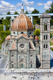 Helgon Mary Flower Church Florence Italy Mini Tiny Royaltyfri Bild