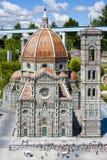 Helgon Mary Flower Church Florence Italy Mini Tiny royaltyfri bild