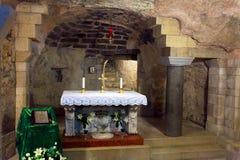 Helgon Mary Grotto av förklaringdomkyrkan Royaltyfri Fotografi
