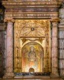 Helgon Mary Virgin Icon Basilica av Santa Prassede i Rome, Italien arkivbilder
