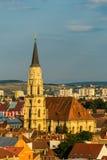 Helgon Michael Cathedral i Cluj Royaltyfri Foto
