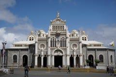 Helgon Michael Cathedral San Padro Costa Rica arkivfoto