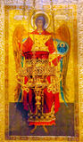 Helgon Michael Icon Saint Michael Cathedral Kiev Ukraina Royaltyfria Foton